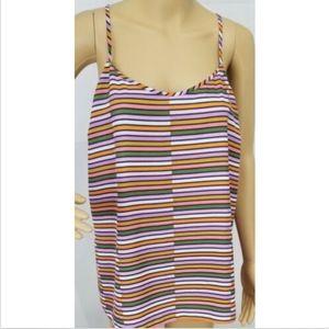 J Crew Women's Blouse Tank Top Shirt 14 Striped